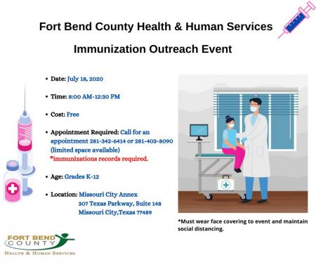 Free Immunization Event for Students