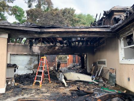 Discarded Fireworks Cause Garage Fire