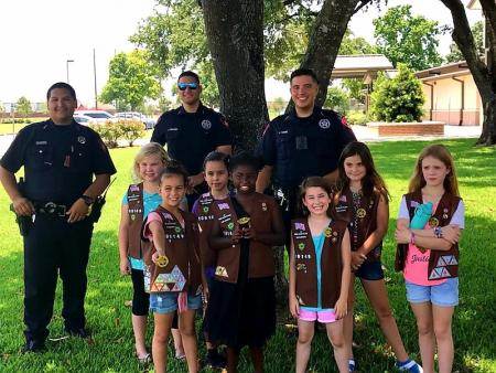 Brownie Troop Visits Deputies